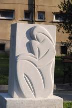 PAR S TULIPANOM, 2006, porobeton, višina 130cm